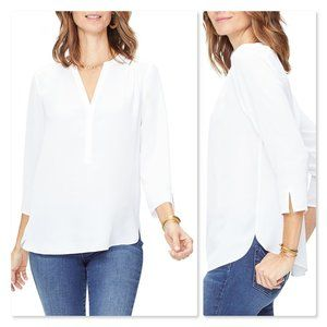NYDJ Perfect Blouse sz Large in White.